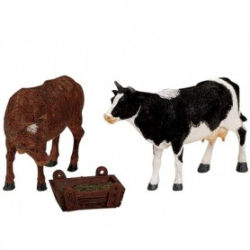 LEMAX FEEDING COW & BULL, SET OF 3 12512