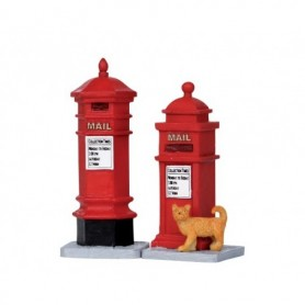 LEMAX VICTORIAN MAILBOXES, SET OF 2 14362
