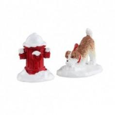 LEMAX SNOW HYDRANT, SET OF 2 14860