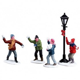 LEMAX SNOWBALL FIGHT!, SET OF 4 32133
