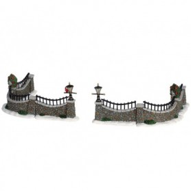 LEMAX STONE WALL, SET OF 6 63576