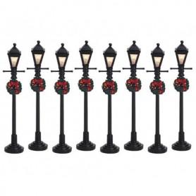 LEMAX GAS LANTERN STREET LAMP, SET OF 8 64500