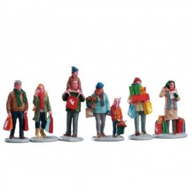 LEMAX HOLIDAY SHOPPERS, SET OF 6 92683