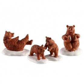 LEMAX BEAR FAMILY SNOW DAY, SET OF 4 02943