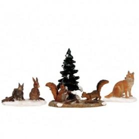 LEMAX WOODLAND ANIMALS, SET OF 4 12516