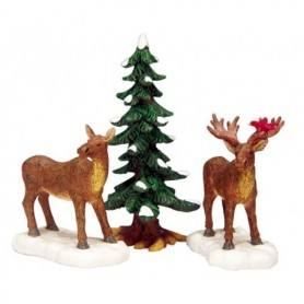 LEMAX MR AND MRS MOOSE, SET OF 3 32725
