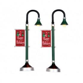 LEMAX MUNICIPAL STREET LAMP, SET OF 2 64065