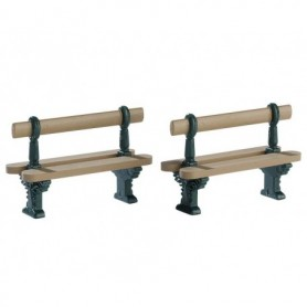 LEMAX DOUBLE SEATED BENCH, SET OF 2 74235