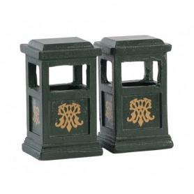 LEMAX GREEN TRASH CAN, SET OF 2 84386