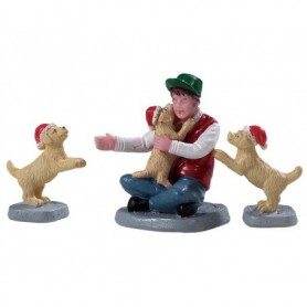 LEMAX NEW PUPPIES, SET OF 3 92778