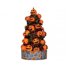 LEMAX LIGHTED PUMPKIN TREE