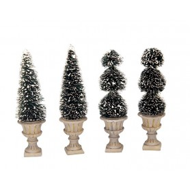 LEMAX CONE-SHAPED & SCULPTED TOPIARIES, SET OF 4