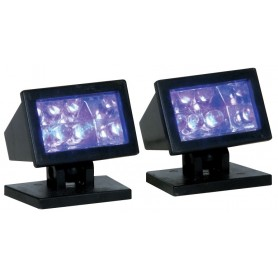 LEMAX HALLOWEEN PURPLE LIGHT, SET OF 2