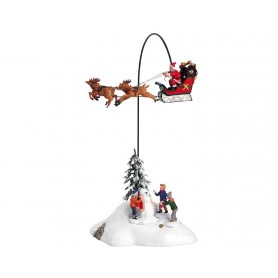 LEMAX SANTA CLAUS IS COMING TO TOWN, SET OF 4 54353