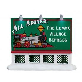 LEMAX TRAIN BILLBOARD