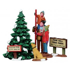 LEMAX PICKING THE TALLEST TREE, SET OF 4