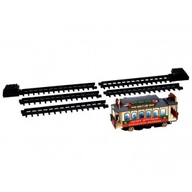 LEMAX CHRISTMAS CABLE CAR, SET OF 6