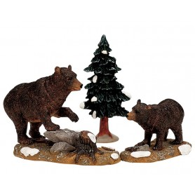 LEMAX PAPA BEAR WITH CUB, SET OF 3