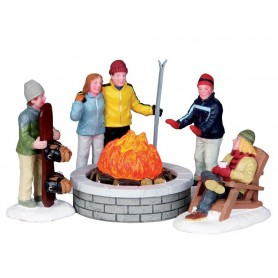 LEMAX FIRE PIT, SET OF 5