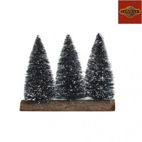 LUVILLE BRISTLE TREES 3PCS ON BASE L12W4H10