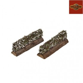 LUVILLE HEDGE WITH SNOW SET OF 2