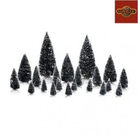 LUVILLE ASSORTED TREES SET OF 21