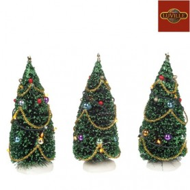LUVILLE BATTERY OPERATED TREE WITH LIGHT SET OF 3