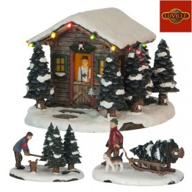 LUVILLE XMAS TREE SELLER SET OF 3
