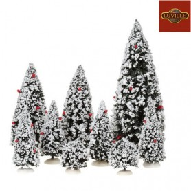 LUVILLE EVERGREEN TREE SET OF 9