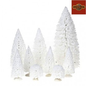 LUVILLE WHITE TREE SET OF 9