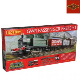 LUVILLE HORNBY GWR PASSENGER FREIGHT TRAIN SET R1138 STEAM LOCOMOTIVE