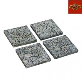 LUVILLE STONE PATH, STRAIGHT PIECES SET OF 4
