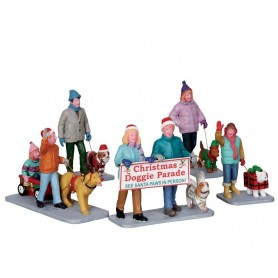 LEMAX CHRISTMAS DOGGIE PARADE, SET OF 5