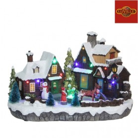 LUVILLE VILLAGE WITH TURNING SLEIGH