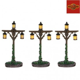 LUVILLE LANTAARN HOUT SET OF 3
