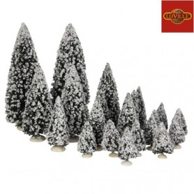 LUVILLE EVERGREEN TREE SET OF 21