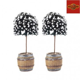LUVILLE BUXUS TREE IN BARREL SET OF 2