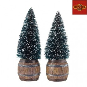 LUVILLE CHRISTMAS TREE IN BARREL SET OF 2