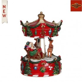 LUVILLE MUSIC BOX MERRY-GO-ROUND
