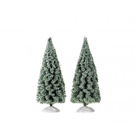 LEMAX SPRUCE TREE, SET OF 2, SMALL