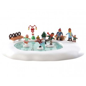 LEMAX GINGERBREAD SKATING POND 84352