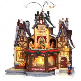LEMAX HOLIDAY HAMLET CHRISTMAS SHOPPE 55026