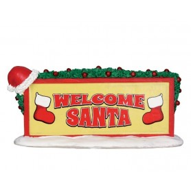 LEMAX WELCOME SANTA SIGN